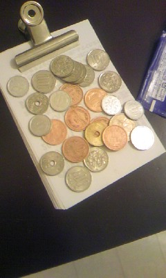 掃除にあくせくするのなら硬貨の一つも磨けばいいのに。